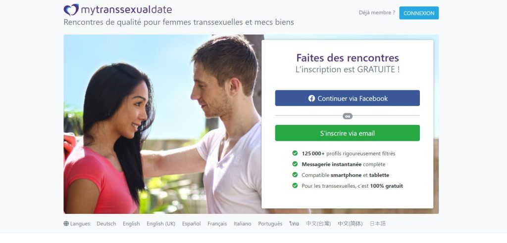 MyTranssexualDate accueil